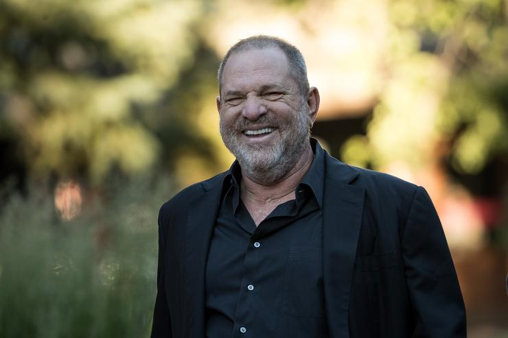 Harvey Weinstein co-chairman and co-founder of Weinstein Co. attends the second day of the annual Allen & Company Sun Valley Conference