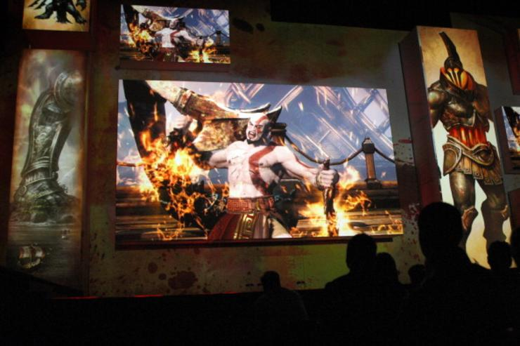 The violent game 'God of War Ascension' is introduced to the audience at the Sony press conference on the eve of the Electronic Entertainment Expo (E3) on June 4, 2012 in Los Angeles, California. E3 is the most important yearly trade show the $78.5 billion videogame industry.
