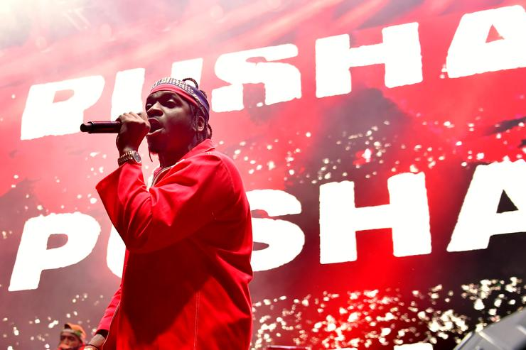 Pusha T performs onstage during adidas Creates 747 Warehouse St., an event in basketball culture, on February 16, 2018 in Los Angeles, California