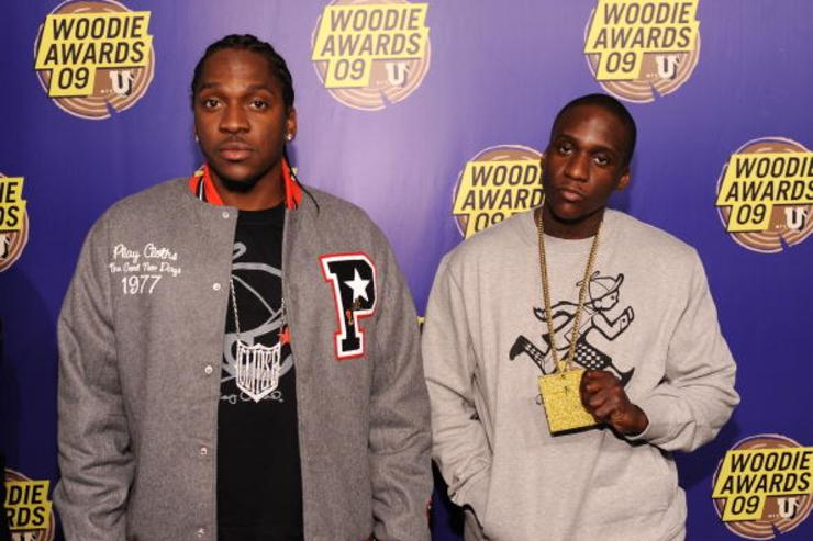 Rappers Pusha T (L) and Malice of Clipse attend the 2009 mtvU Woodie Awards at Roseland Ballroom on November 18, 2009 in New York City.