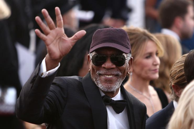 honoree Morgan Freeman attends the 24th Annual Screen Actors Guild Awards at The Shrine Auditorium on January 21, 2018 in Los Angeles, California.