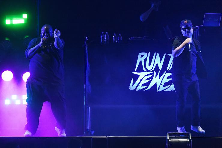 Killer Mike and El-P from Run The Jewels performs at 'Lorde Melodrama World Tour' at Barclays Center on April 4, 2018 in New York City