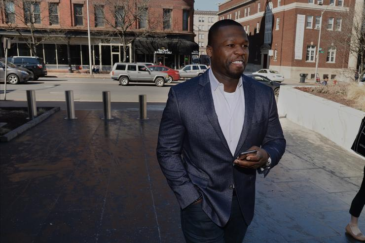 Curtis Jackson, also known as 50 Cent, makes an appearance at bankruptcy court on March 09, 2016 in Hartford, Connecticut