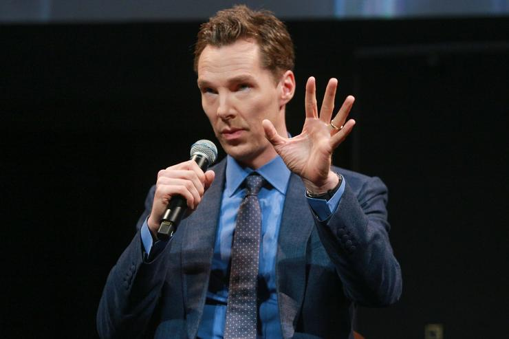 Benedict Cumberbatch speaks onstage during the for your consideration event for Showtime's 'Patrick Melrose'at NeueHouse Hollywood on April 26, 2018 in Los Angeles, California.