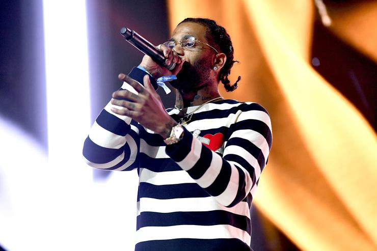 Hoodrich Pablo Juan performs onstage during day two of the Rolling Loud Festival at NOS Events Center on December 17, 2017 in San Bernardino, California