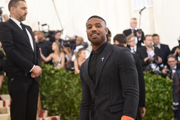 Michael B. Jordan attends the Heavenly Bodies: Fashion & The Catholic Imagination Costume Institute Gala at The Metropolitan Museum of Art on May 7, 2018 in New York City.
