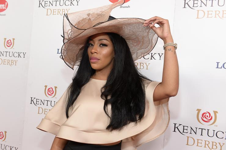 K. Michelle attends the 142nd Kentucky Derby at Churchill Downs on May 07, 2016 in Louisville, Kentucky