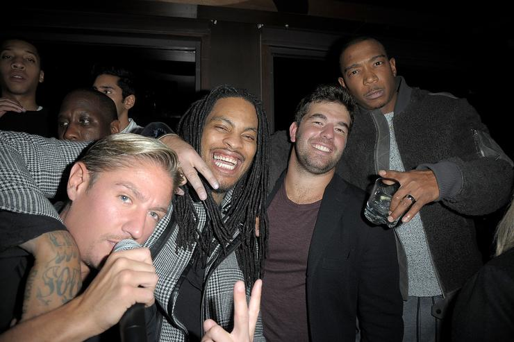 Matthew Assante, Waka Flocka, Billy McFarland and Ja Rule attend 'Whisper Wednesdays' at PHD Terrace Dream Midtown on December 14, 2016 in New York City.
