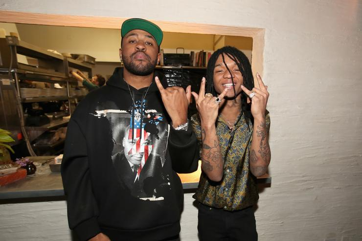 Mike Will Made It and Swae Lee of Rae Sremmurd attend Mike Will Made It celebrates his birthday and the release of 'Ransom 2' at a DTS Play-Fi Dine In Sound event at WOLF Restaurant LA on March 23, 2017 in Los Angeles, California