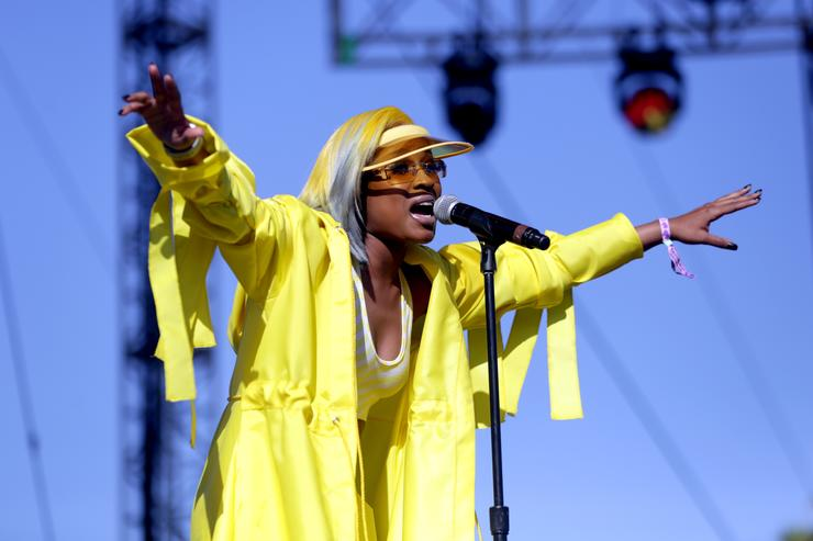 DeJ Loaf performs onstage during the 2018 Coachella Valley Music And Arts Festival at the Empire Polo Field on April 22, 2018 in Indio, California.