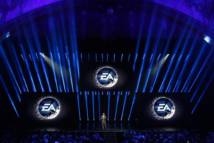 Electronic Arts Chief Operating Officer Peter Moore speaks at a press conference June 10, 2012 in Los Angeles, California. Thousands are expected to attend the annual three-day convention to see the latest games and announcements from the gaming industry.
