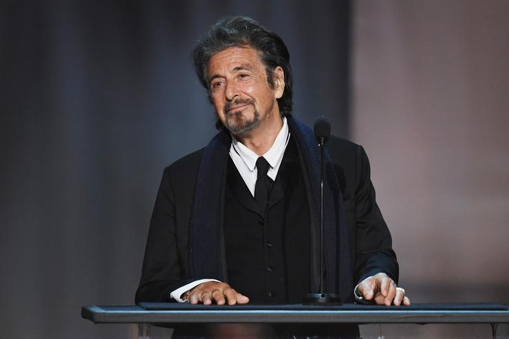 Actor Al Pacino speaks onstage during American Film Institute's 45th Life Achievement Award Gala Tribute to Diane Keaton at Dolby Theatre on June 8, 2017 in Hollywood, California.