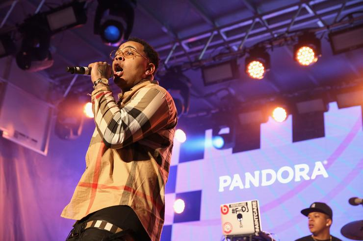 Kevin Gates performs onstage during the PANDORA Discovery Den SXSW on March 18, 2016 in Austin, Texas
