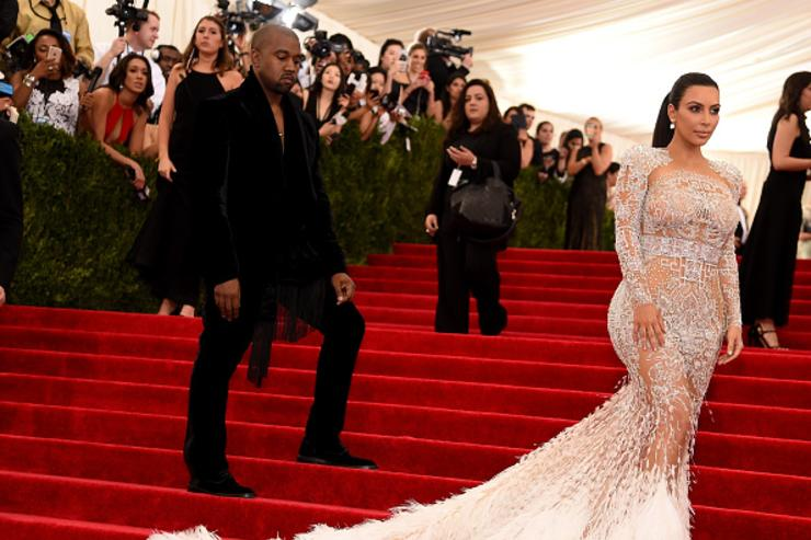 : Kanye West (L) and Kim Kardashian West attend the 'China: Through The Looking Glass' Costume Institute Benefit Gala at the Metropolitan Museum of Art on May 4, 2015 in New York City.