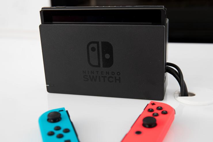 The new Nintendo Switch game console is displayed at a pop-up Nintendo venue in Madison Square Park, March 3, 2017 in New York City. The Nintendo Switch console goes on sale today and retails for 300 dollars.