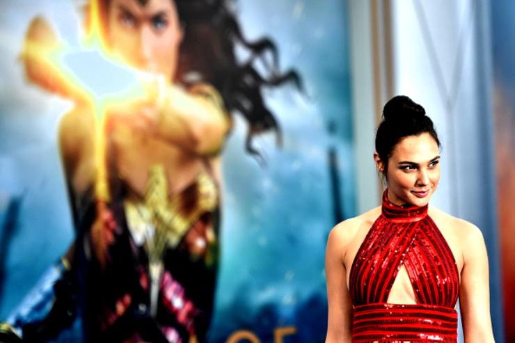Actress Gal Gadot arrives at the Premiere Of Warner Bros