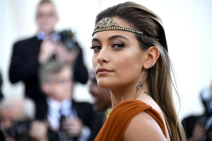 Actor Paris Jackson attends the Heavenly Bodies: Fashion & The Catholic Imagination Costume Institute Gala at The Metropolitan Museum of Art on May 7, 2018 in New York City.