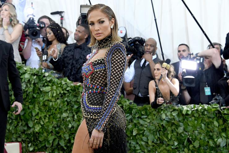 Recording artist Jennifer Lopez attends the Heavenly Bodies: Fashion & The Catholic Imagination Costume Institute Gala at The Metropolitan Museum of Art on May 7, 2018 in New York City.