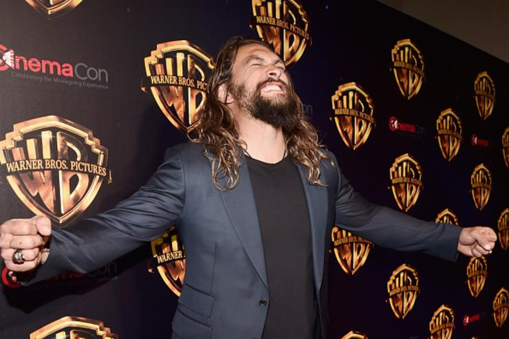 """Actor Jason Momoa attends CinemaCon 2018 Warner Bros. Pictures Invites You to """"The Big Picture"""", an Exclusive Presentation of our Upcoming Slate at The Colosseum at Caesars Palace during CinemaCon, the official convention of the National Association of Theatre Owners, on April 24, 2018 in Las Vegas, Nevada."""