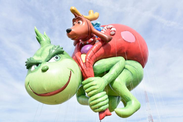 Illuminations presents Dr. Seuss' The Grinch debuts as a giant balloon during Macy's Balloonfest ahead of the 91st Annual Macy's Thanksgiving Day Parade on November 4, 2017 in East Rutherford City.