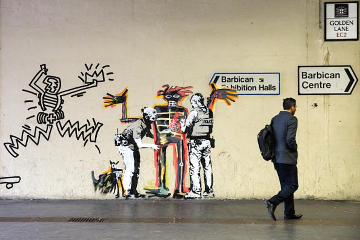 Banksy print thief filmed walking artwork out of gallery