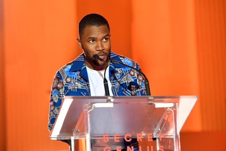 Frank Ocean speaks onstage at Spotify's Inaugural Secret Genius Awards hosted by Lizzo at Vibiana on November 1, 2017 in Los Angeles, California.