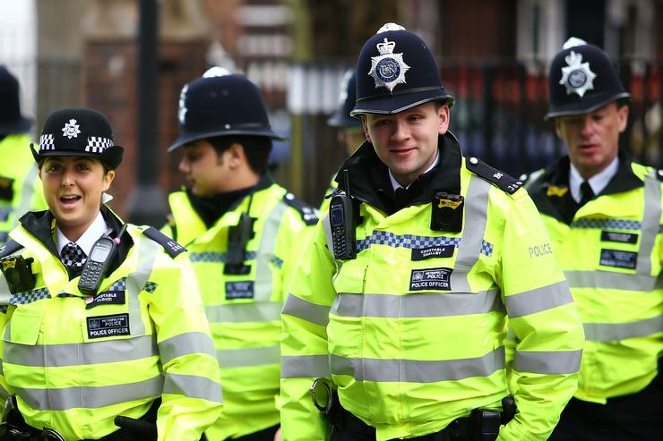 Police arrive ahead of the Sky Bet Championship match between QPR and Sunderland at Loftus Road on March 10, 2018 in London, England.