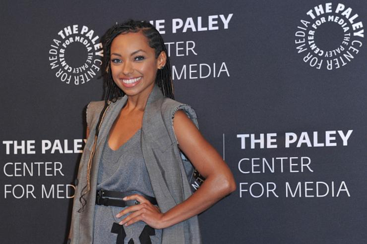 Logan Browning arrives at An Evening With 'Dear White People' at The Paley Center for Media on June 5, 2018 in Beverly Hills, California.