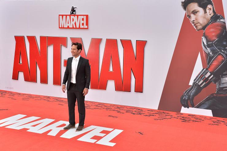 Actor Paul Rudd attends the European Premiere of Marvel's 'Ant-Man' at the Odeon Leicester Square on July 8, 2015 in London, England.