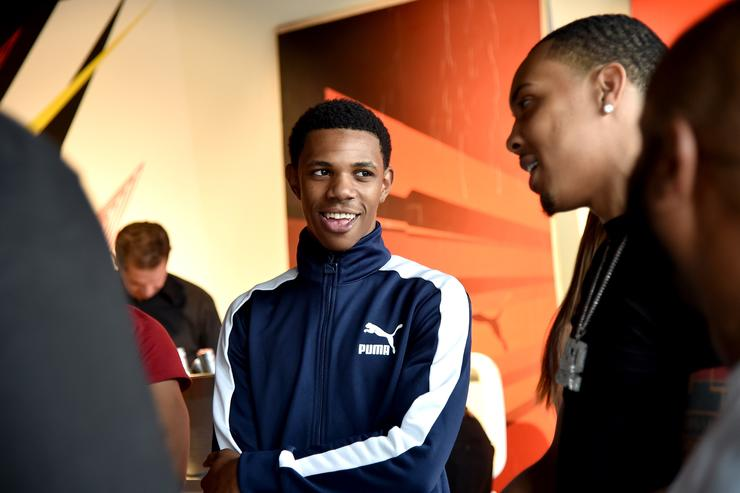 Recording artist A Boogie wit da Hoodie attends the first look of PUMA basketball shoe, Clyde Court Disrupt on June 20, 2018 in Brooklyn.