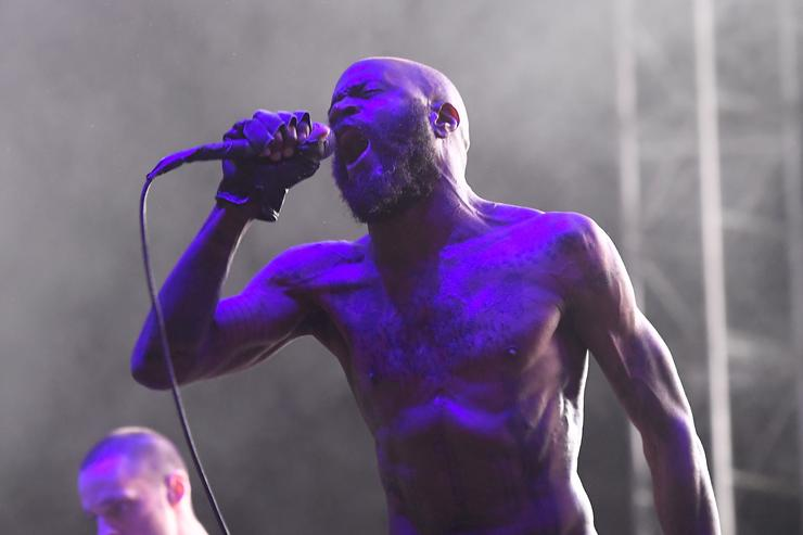 Stefan Burnett of Death Grips performs on Flog Stage during day two of Tyler, the Creator's 5th Annual Camp Flog Gnaw Carnival at Exposition Park on November 13, 2016 in Los Angeles, California.