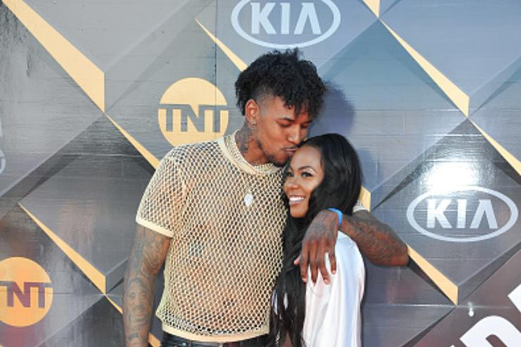 Nick Young and Keonna Green attend the 2018 NBA Awards Show at Barker Hangar on June 25, 2018 in Santa Monica, California.