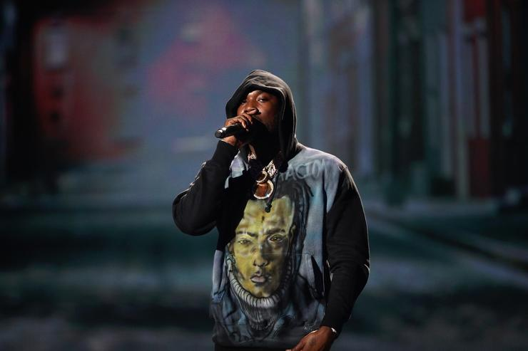 Meek Mill performs onstage at the 2018 BET Awards at Microsoft Theater on June 24, 2018 in Los Angeles, California