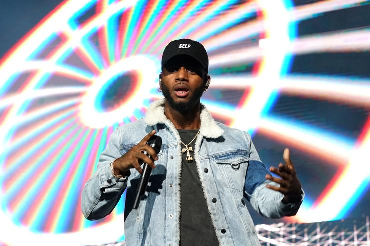 Bryson Tiller performs onstage at night two of the STAPLES Center Concert, presented by Coca-Cola, during the 2017 BET Experience at LA Live on June 23, 2017 in Los Angeles, California.