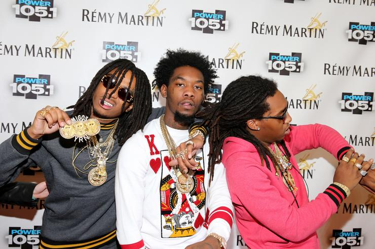 Migos attend Power 105.1's Powerhouse 2014 at Barclays Center of Brooklyn on October 30, 2014 in New York City
