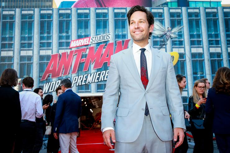 Paul Rudd at the Ant-Man movie premiere