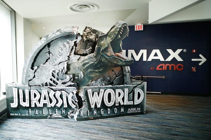 General atmosphere during the IMAX exclusive experience for Jurassic World: Fallen Kingdom at AMC Loews Lincoln Square IMAX on June 20, 2018 in New York City.