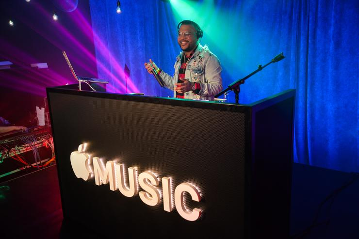 DJ Dimelo Flow performs at Apple Music Celebrates 'Up Next' Artist Bad Bunny with a concert for fans at Bar 1306 in Miami, Florida on March 8, 2018.
