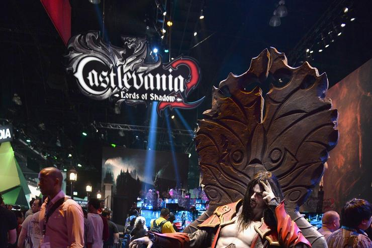 The Castlevania 2 Lords of Shadows display at the E3 Gaming and Technology Conference at the Los Angeles Convention Center on June 11, 2013 in Los Angeles, California.