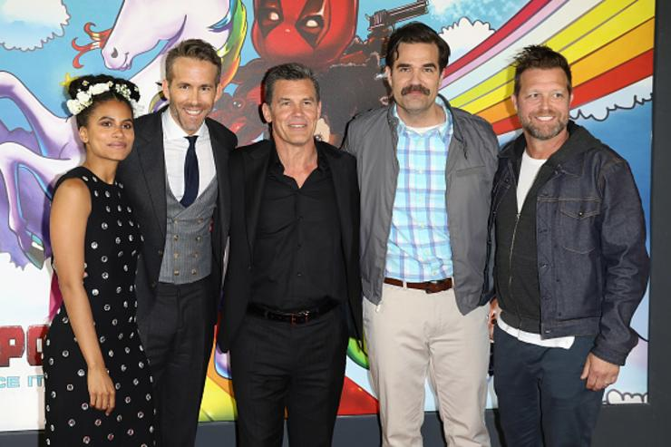 Ryan Renolds, Zazie Beetz, Josh Brolin, Rob Delaney and director David Leitch attend the 'Deadpool 2' photocall at Empire Casino Leicester Square on May 10, 2018 in London, England.