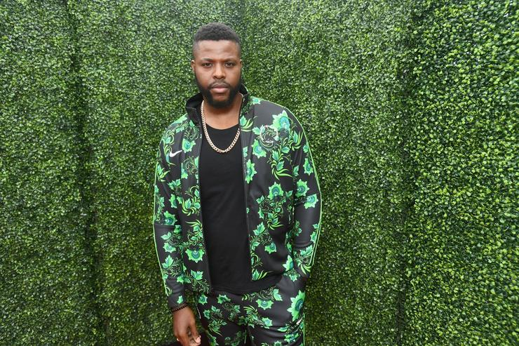 Actor Winston Duke attends the 2018 MTV Movie And TV Awards at Barker Hangar on June 16, 2018 in Santa Monica, California.
