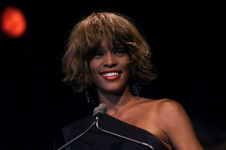 Whitney Houston at the Songwriters Hall of Fame 32nd Annual Awards at The Sheraton New York Hotel and Towers in New York City on June 14, 2001