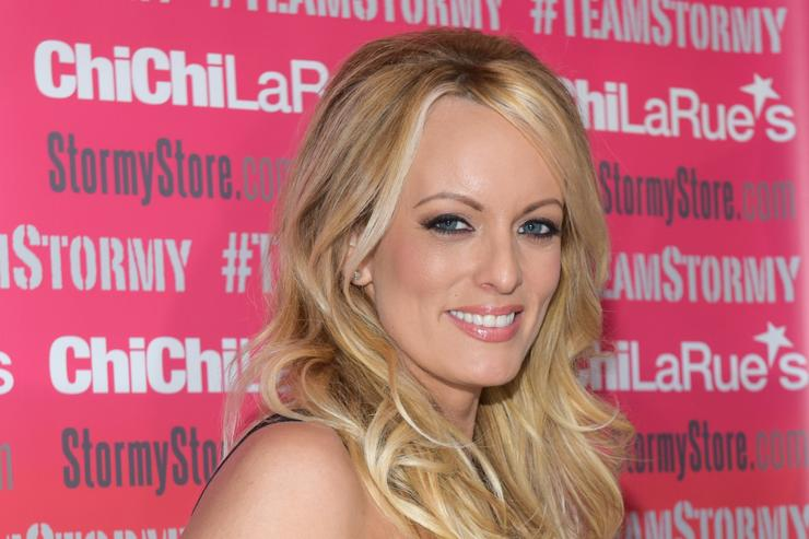 Stormy Daniels attends a fan meet and greet at Chi Chi LaRue's on May 23, 2018 in West Hollywood, California.