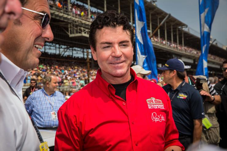 Papa John's founder and CEO John Schnatter attends the Indy 500 on May 23, 2015 in Indianapolis, Indiana.