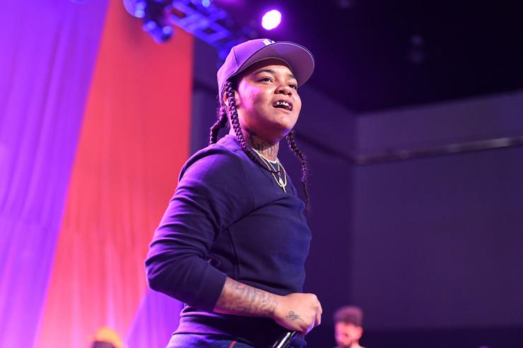 Young M.A performs onstage at the Main Stage Performances during the 2017 BET Experience at Los Angeles Convention Center on June 24, 2017 in Los Angeles, California.