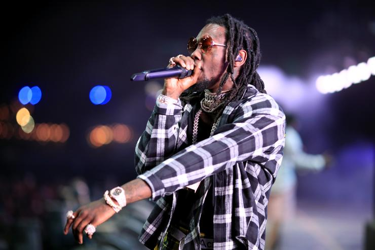 Offset of Migos performs onstage during the 2018 Coachella Valley Music And Arts Festival at the Empire Polo Field on April 22, 2018 in Indio, California