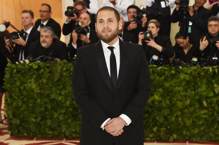 Jonah Hill attends the Heavenly Bodies: Fashion & The Catholic Imagination Costume Institute Gala at The Metropolitan Museum of Art on May 7, 2018 in New York City.