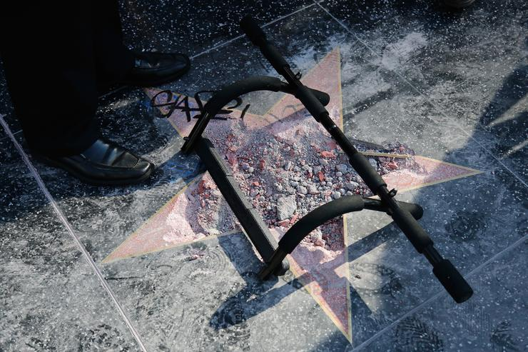 President Trump's Star On The Hollywood Walk Of Fame Destroyed - Again