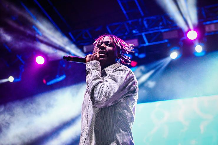 Lil Yachty performs on the Flog Stage during day 2 of Camp Flog Gnaw Carnival 2017 at Exposition Park on October 29, 2017 in Los Angeles, California.
