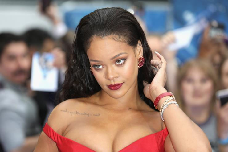 Rihanna attends the 'Valerian And The City Of A Thousand Planets' European Premiere at Cineworld Leicester Square on July 24, 2017 in London, England